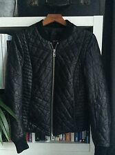 Zadig And Voltaire Quilted Leather Bomber Jacket Size M