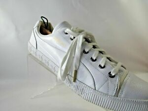 Details about Alexander McQueen Puma Size 13 M White Leather Lace Up Low Sneaker Mens Shoes