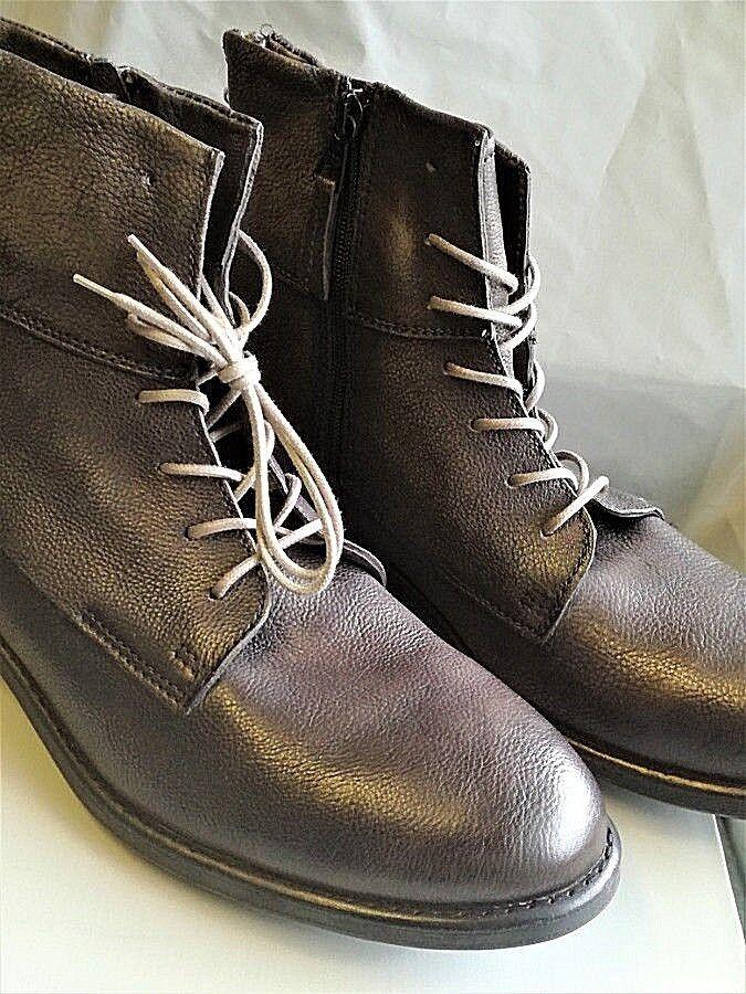 Topper Dillon Gr Herren Stiefel Stiefeletten Leder Vintage look anthraz Gr Dillon 44 NEU W11 130606