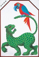 Original Vintage Poster Hubert Hilscher Polish Cyrk Jaguar Parrot Bird Circus