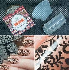 Manicure Template Nail Art Printing Image Polish Stamp Plate Scraper Stamper Kit