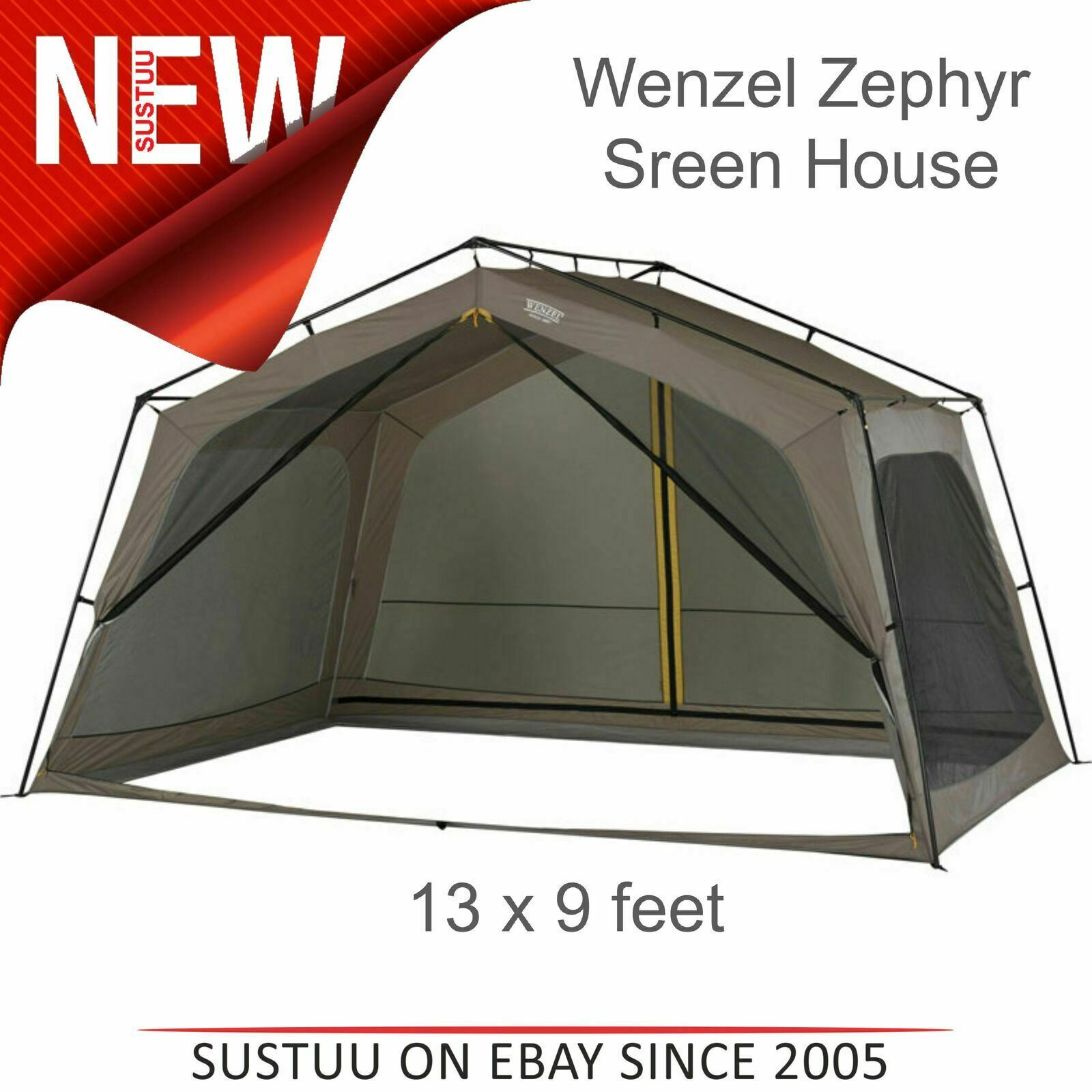 Wenzel 36514 Zephyr all'aperto Schermo Casa Tenda 13x9 FT   SUN SHELTER L5   T porte