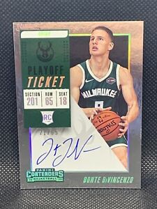 2018-Panini-Contenders-Playoff-Ticket-65-Donte-DiVincenzo-Rookie-Auto-HOT