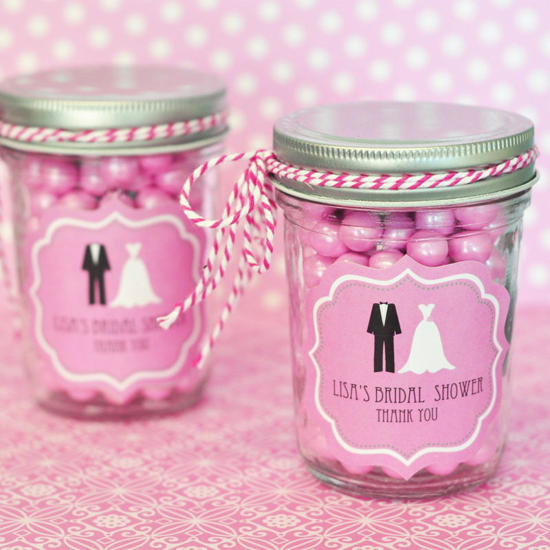 96 Personalized Wedding Couple Theme Mini Mason Jars Wedding Favor Candy Jars
