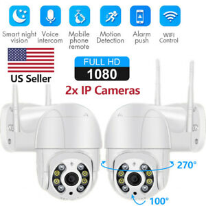 US 1080P WIFI IP CCTV Security Camera Wireless Outdoor HD Smart Home PTZ IR Cam