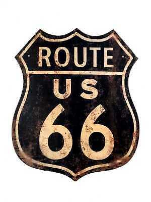 Targa tabella insegna in metallo vintage arredo route 66 per pub ristorante
