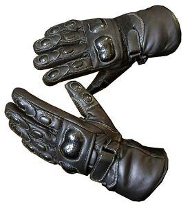 Winter Waterproof Motorbike Motorcycle Leather Gloves for Winter Thermal Warm