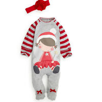 Christmas Boys Girl Baby Grow Romper Clothes Hat Baby Santa Costume Outfits Xmas