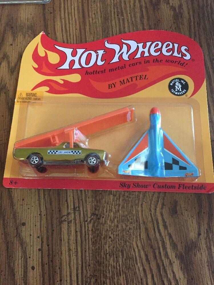 Hot Hot Hot Wheels 2013 HWC/RLC Sky Show Custom Fleetside oro w/Ramp + Plane 1517/3000 36edd1