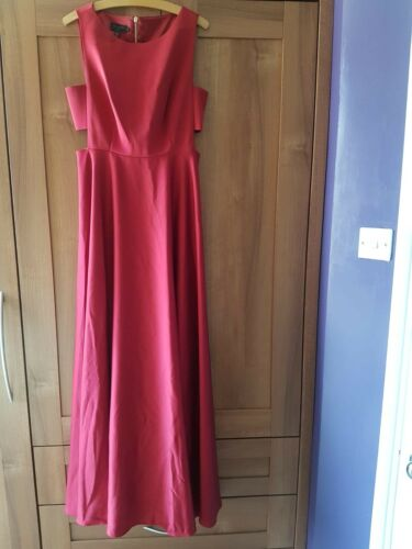 3 Size Cut Dress Baker Condition Length Good Burgundy Liyee Ted out Full 6pBzwq