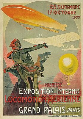 Flugstag vintage german flying day festival travel poster repro 12x18