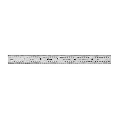 "2 Pc 6/"" Stainless Steel Pocket Ruler Inch /& Centimeter Heavy Duty Hardened Steel"