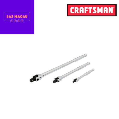 Craftsman 3 Pc Flex Handle Breaker Bar Set Standard Universal Auto Mechanic Tool