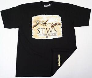 STREETWISE-LIT-T-shirt-Urban-Streetwear-Tee-Adult-Men-L-4XL-Black-New