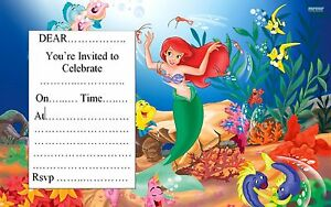 Image Is Loading LITTLE MERMAID BIRTHDAY PARTY INVITATIONS 10 20 OR