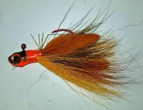 1//8 oz Bucktail Jigs Hand Tied