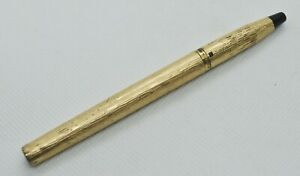 Vintage Parker 105 Rolled Gold Rollerball Pen No Cap For Spare Part