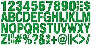 1-SET-OF-SELFADHESIVE-GREEN-VINYL-LETTERS-amp-NUMBERS-HIGH-1-034-INDOOR-OUTDOOR-USE