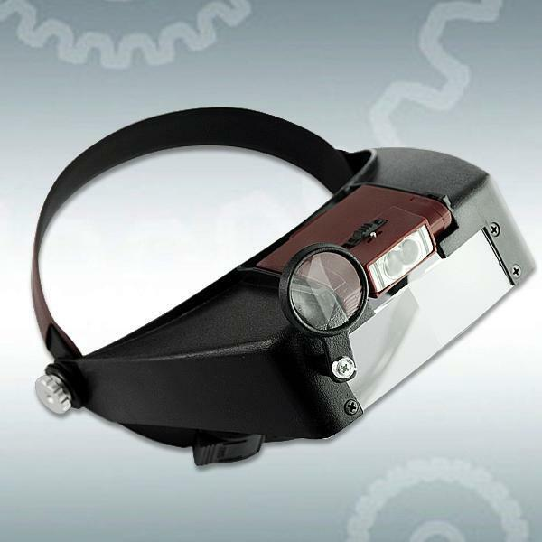 Watch Repair Head Headband Glasses Magnifier Loupe 10X With LED Light Lamp