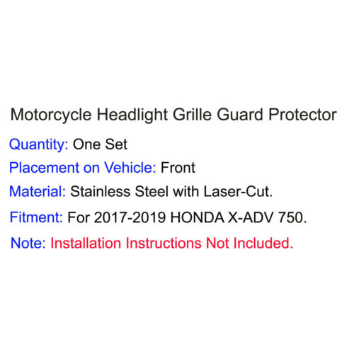 Head Light Lamp Grille Guard Protector Silver For 2017-2019 HONDA X-ADV XADV 750