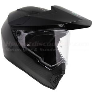 AGV AX9 AX-9 Gloss Carbon Offroad Motorcycle Helmet Fast