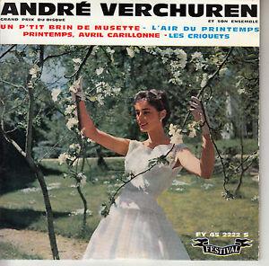 45TRS-VINYL-7-039-039-FRENCH-EP-ANDRE-VERCHUREN-PRINTEMPS-AVRIL-EUROVISION-1961