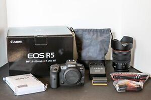 Canon EOS R5 45MP Mirrorless Camera with RF 24-105mm f/4 L IS USM Lens + CarePAK