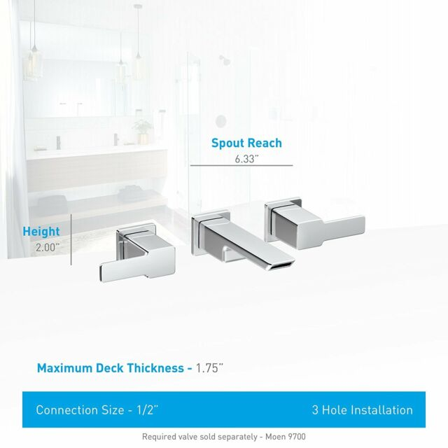 Moen TS6730 90 Degree Collection 2-handle Wall Mount Bathroom Faucet ...