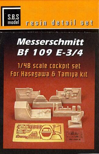 SBS Models 1//48 MESSERSCHMITT Bf-109E COCKPIT SET RESIN /& PE CONVERSION KIT