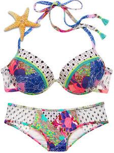 New Victoria/'s Secret Swim Balinese Patchwork Flirt Bandeau Bikini Top