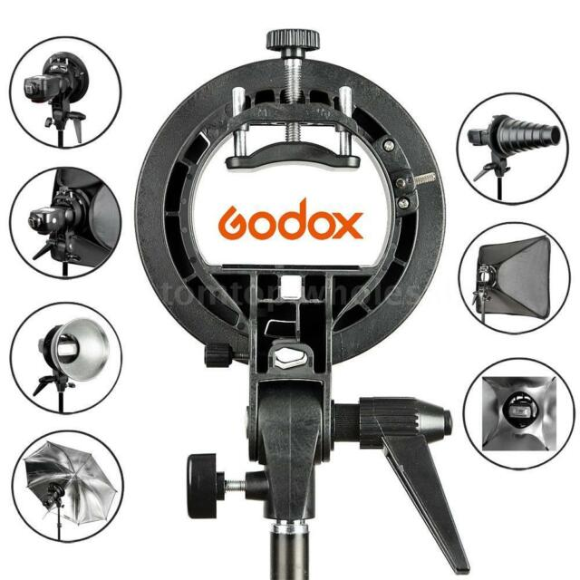 Godox S-Type Bracket Bowen Mount Holder for Camera Speedlite Snoot Softbox B5G3