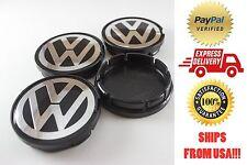 Volkswagen VW Bettle, Golf, Jetta, Rabbit, Eurovan, Passat 4x Center Caps