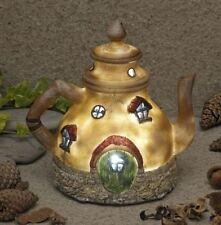 New Garden Glows Solar Fairy house-Tea Pot Cottage - Home of Rain Pepperfilter