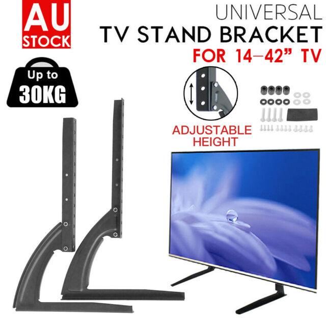 "14-70"" Table Top Desktop Mount Stand Bracket Monitor LCD LED Plasma TV Universal"