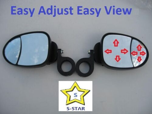 Pair Patent Polaris RZR800  UTV Easy View  Side View Mirror Set
