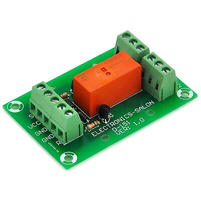Bistable/Latching DPDT 8 Amp Power Relay Module, DC12V Coil, Tyco RT424F12. S11C
