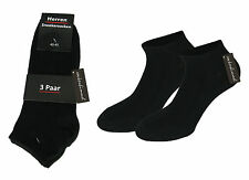 12 Paar Herren Füßlinge Sneaker Socken Kurzsocken schwarz Baumwolle + Elasthan