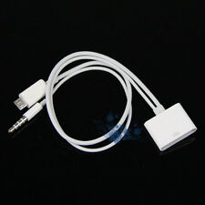 White Micro USB to 30 Pin iPhone 4 4S Dock 3.5mm Audio Adapter Charger Cable UK