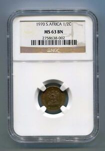 South-Africa-1970-1-2-C-Ngc-MS-63-Bn-Graded-Coin
