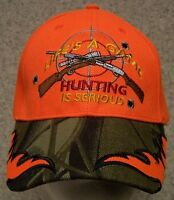 Embroidered Baseball Cap Hunting Life's A Game Orange 1 Hat Size Fit All
