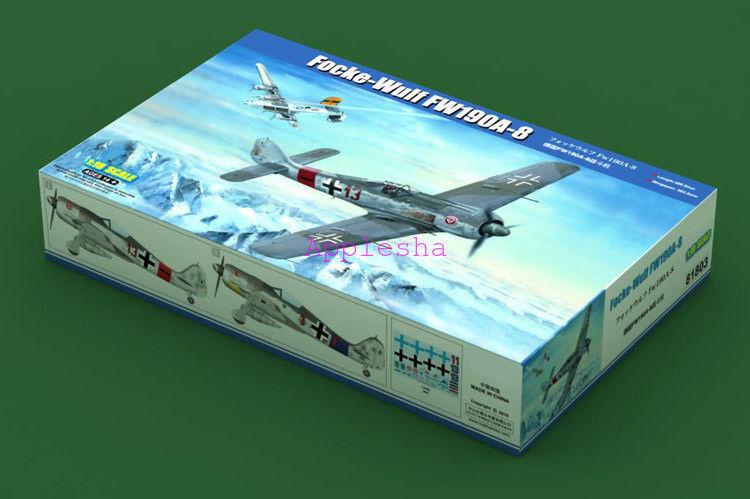 Hobbyboss 1/18 81803 Focke-Wulf FW190A-8 modelo kit de montaje de aviones militares