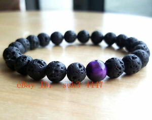 Fashion-Mens-Lava-Rock-Tigers-Eye-Mala-Beads-Energy-Yoga-Beaded-Bracelet-Jewelry