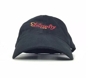 Image is loading Butterfly-Life-Charter-Member-Embroidered-Black-Baseball- Cap- 17efb3c394be