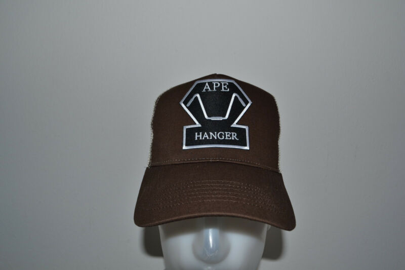 Ape Hanger,trucker Cap,mütze,,v2,chopper,old School,harley,hd,braun