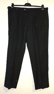 Alexander Dobell Black Tuxedo Trousers Satin Stripe Wool W38 L31 Salex Uu 04