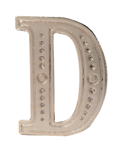 Letter D Nickel-Plated Orange Order Collarette Character