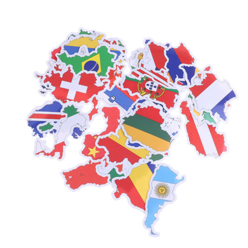50Pcs National flags stickers DIY scrapbook suitcase laptop country map sticker