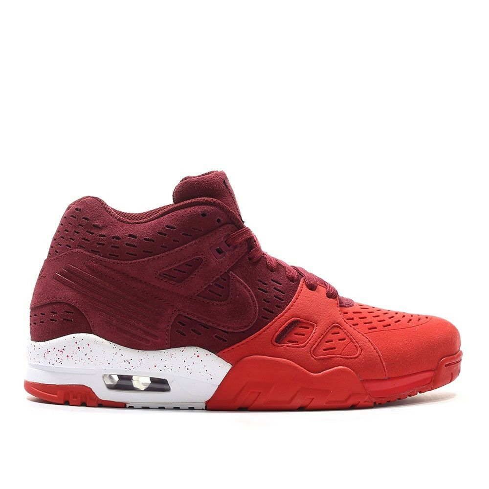 Para hombres Nike Team Air Trainer 3 le Team Nike Rojo Atlético Sneaker 815758 Gamuza De Moda 86b069