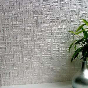 Image Is Loading Wallpaper Textured Paintable Vinyl  Luxury Embossed Durable Edward