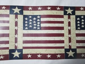Details About Warren Kimble Wallpaper Border 13247 United We Stand 7 X 5 Yd